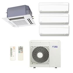 Ar Cond. Multi Daikin Inverter Advance 2X9000 ( HW ) +1X12000 ( HW ) +1X18000 ( Cassete ) Btu / s Quente / Frio 220v1F