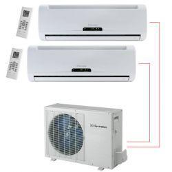 Ar Condicionado Bi Split 2x9000 BTU/s Frio 220V Electrolux DI09F/DE18F