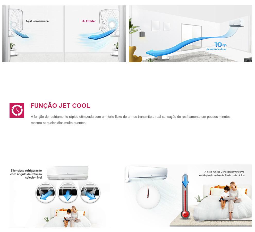 Ar Condicionado Split Inverter Art Cool LG 8500 BTUs Quente-Frio