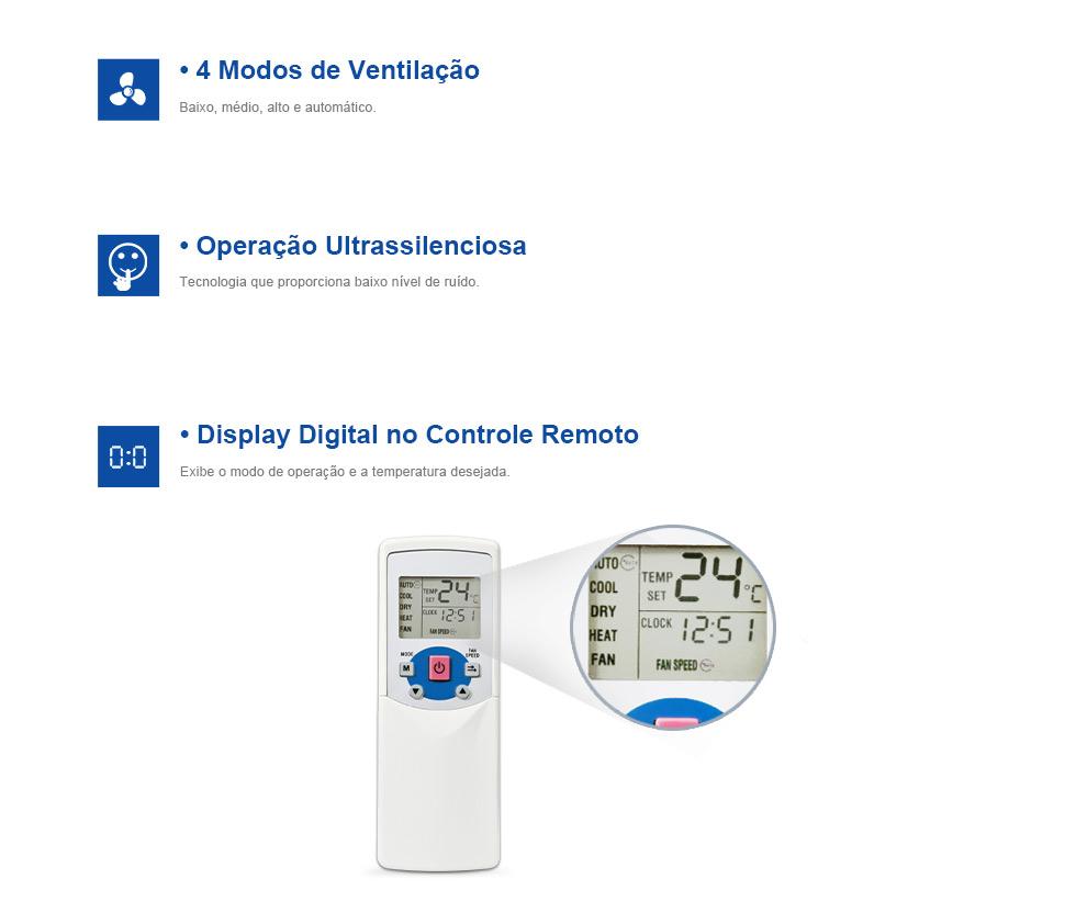 Ar Condicionado Split Cassete 46000 BTUh QuenteFrio 380V Trif�sico