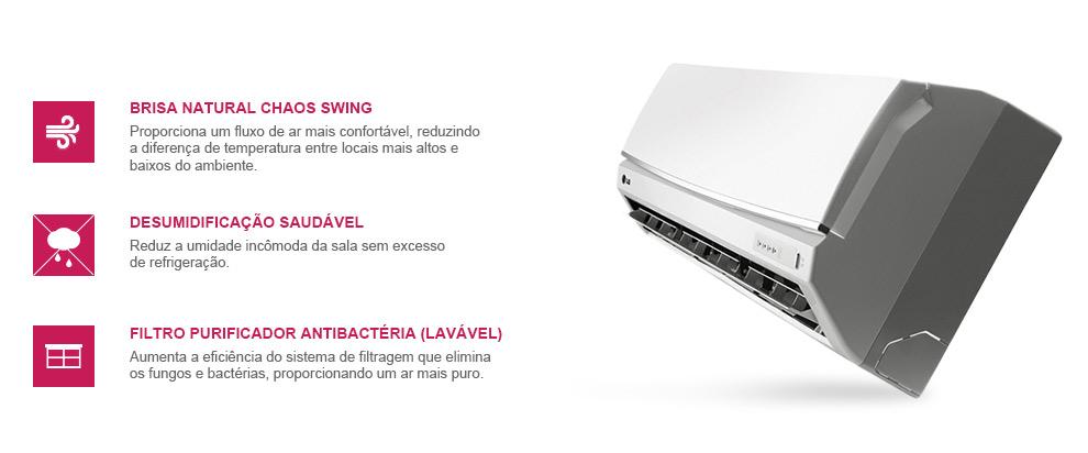 Ar Condicionado Split LG Smile 12000 BTUs Frio
