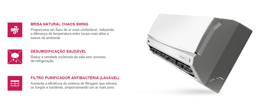 Ar Condicionado Split LG Smile 18000 BTUs Quente-Frio