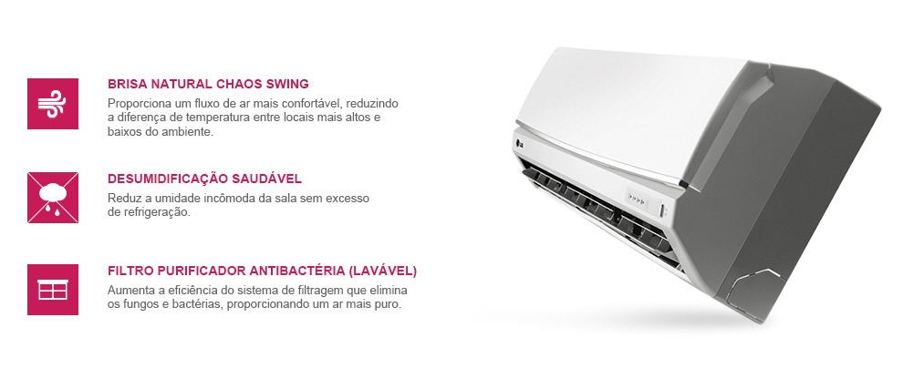 Ar Condicionado Split LG Smile 7500 BTUs Quente-Frio