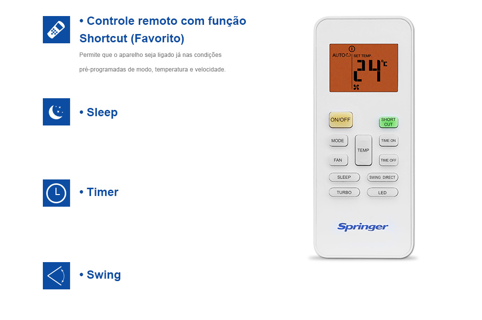 Ar Condicionado Split Springer Way 12000 BTUs Quente-Frio